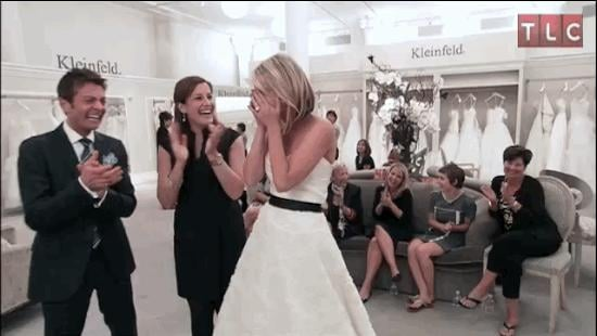 """And you finally say """"yes"""" to the dress!"""