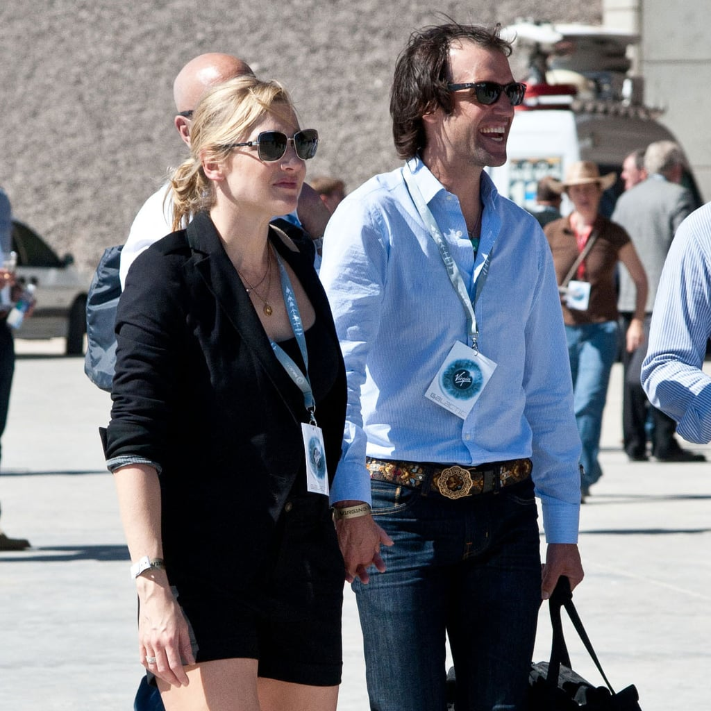 Kate and Ned held hand in New Mexico.