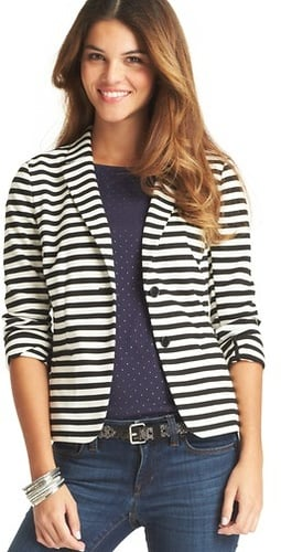 Striped Knit Blazer