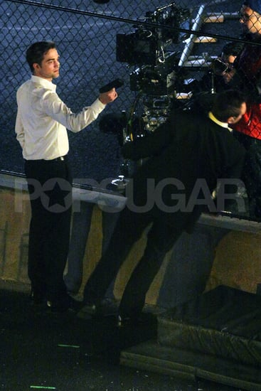 Robert Pattinson Acts Out a Violent Night on the Set of Cosmopolis