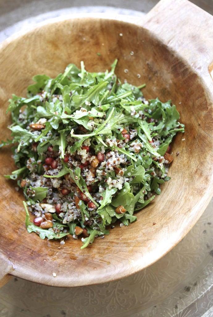 Quinoa Salad With Almonds, Pomegranates, and Arugula