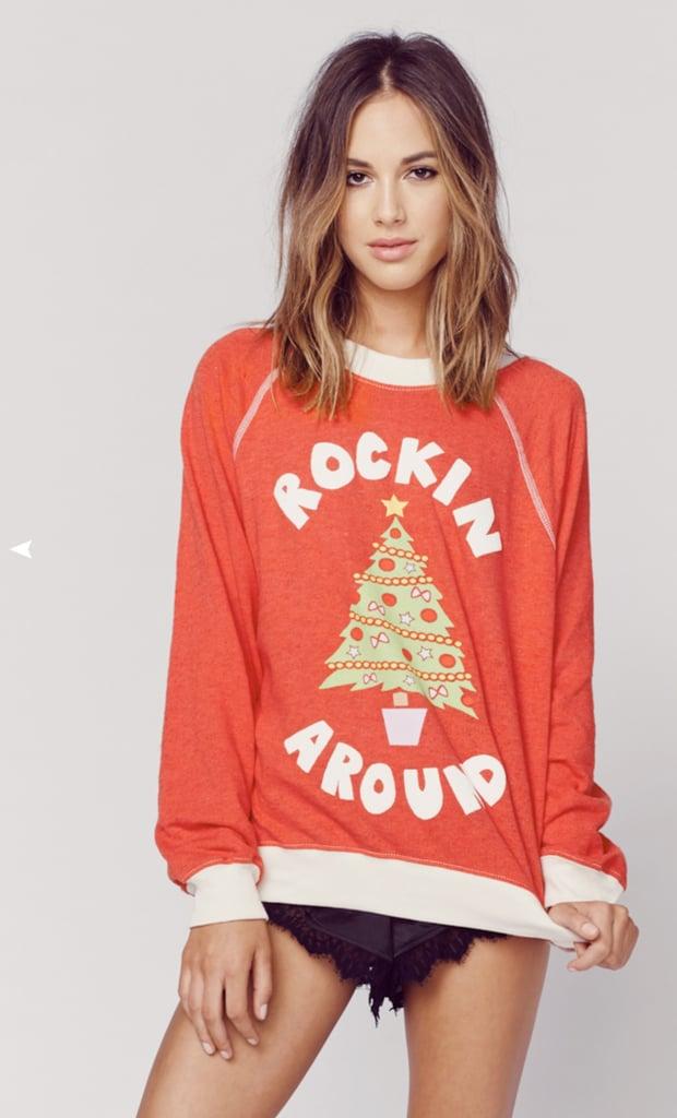 Wildfox Rockin Around Pullover Sweater ($98)
