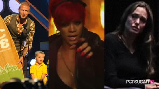 """Video of Highlights From Past Teen Choice Awards, Eminem and Rihanna Debut Music Video For """"Love the Way You Lie,"""" and Angelina"""