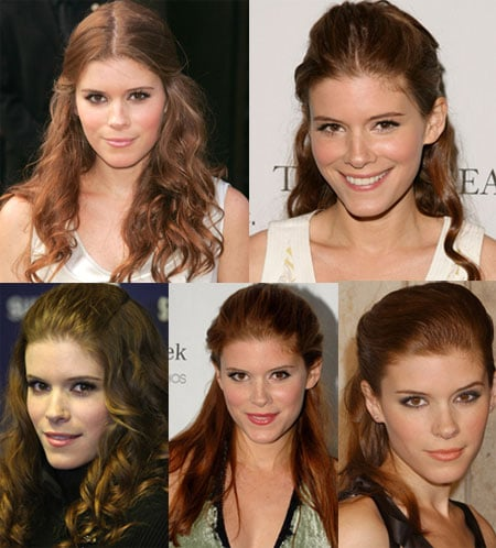 Kate Mara Half-Up Hairstyles