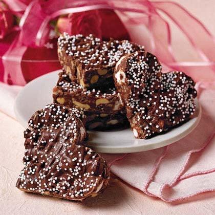 Crispy Chocolate Hearts