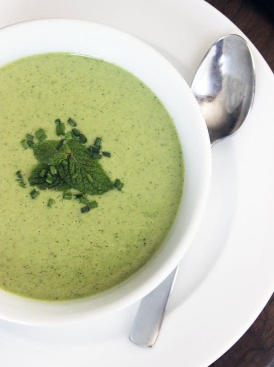Cucumber-Mint Yogurt Soup
