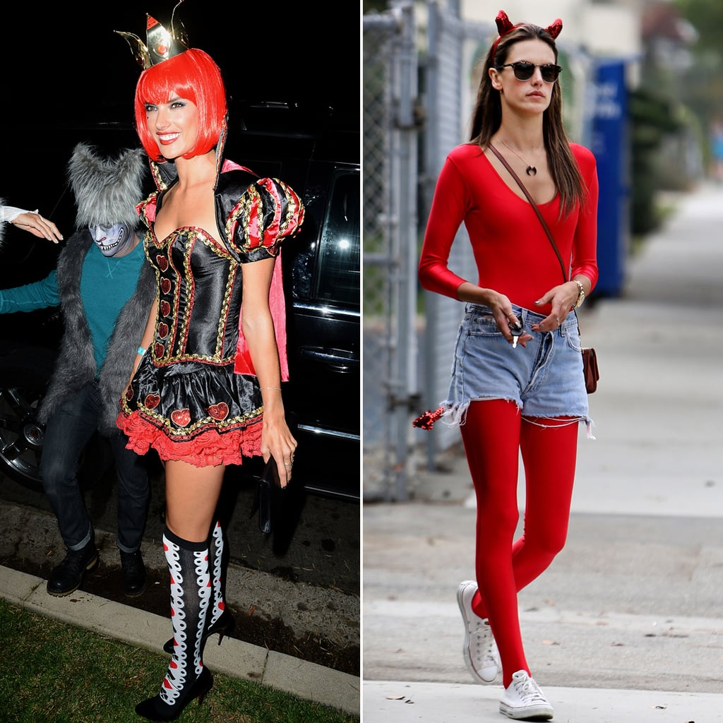 Alessandra Ambrosio Delivers Two Red-Hot Halloween Costumes