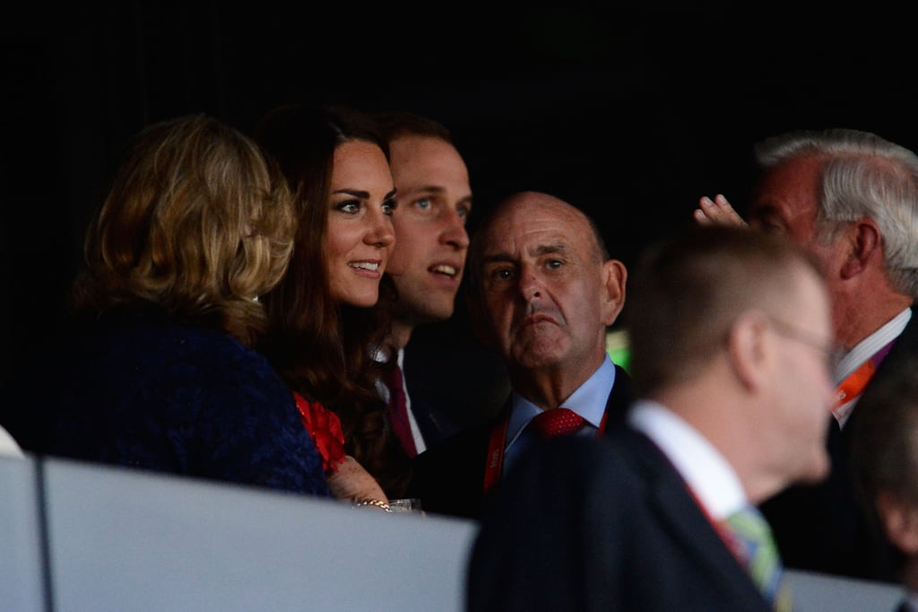 Kate Middleton and Prince William prepared for the opening ceremony.