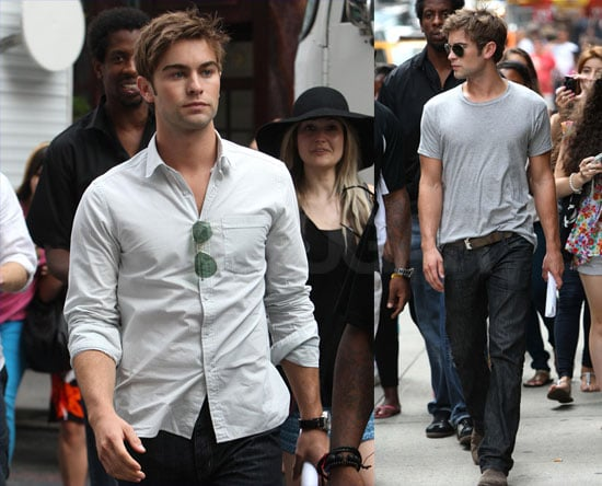 Chace Crawford Goes Incognito on the Gossip Girl Set