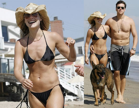 Photos of Ali Larter in a Bikini With Shirtless Boyfriend Hayes MacArthur on Malibu Beach