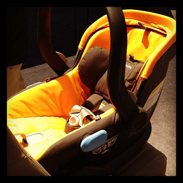 UppaBaby introduced its first car seat, the Mesa. The infant seat is only 10.5 pounds and uses a smart secure base that is beyond easy to install (trust me, I tried it and it was simple). With a no-rethread harness, it is easy to adjust, too. The base is solid so it won't tear up car interiors. It is also optimized for preemies with a wedge that better positions babies under 11 pounds. It will hit the market in March.