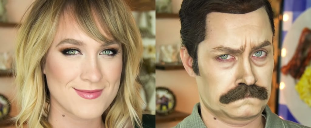This Makeup Artist Whole-Assed 1 Thing: Transforming Into Ron Swanson