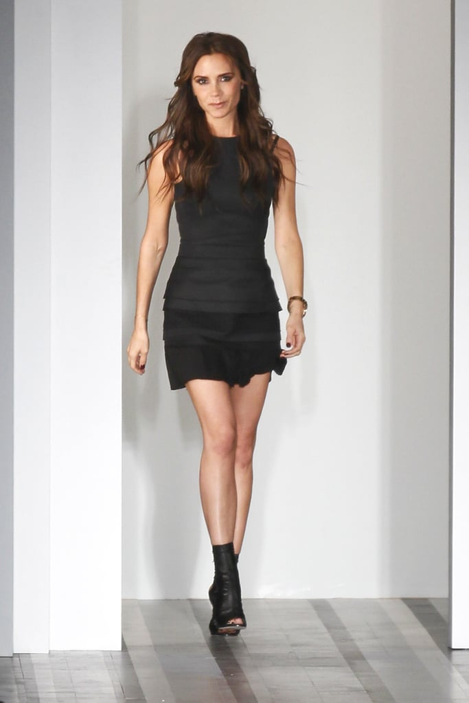 Victoria Beckham took a bow on the runway after her Victoria Beckham collection show during NYFW in September 2012.