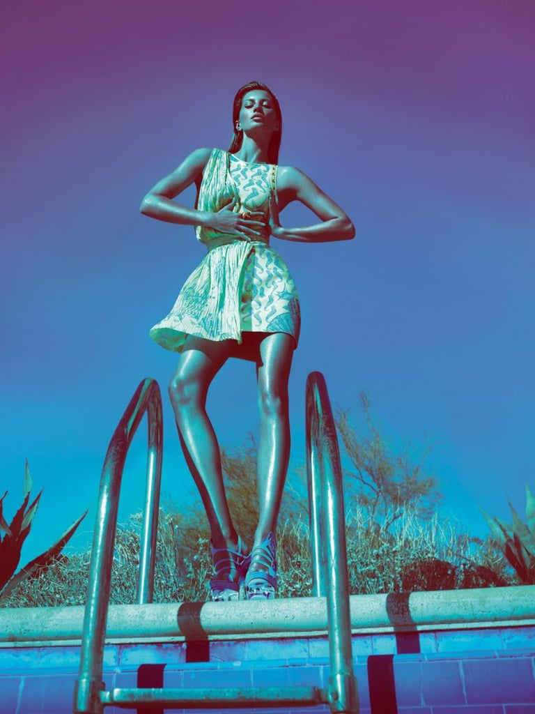Minidresses and dominatrix-inspired heels dominate the Versace Spring '12 ads. Source: Fashion Gone Rogue
