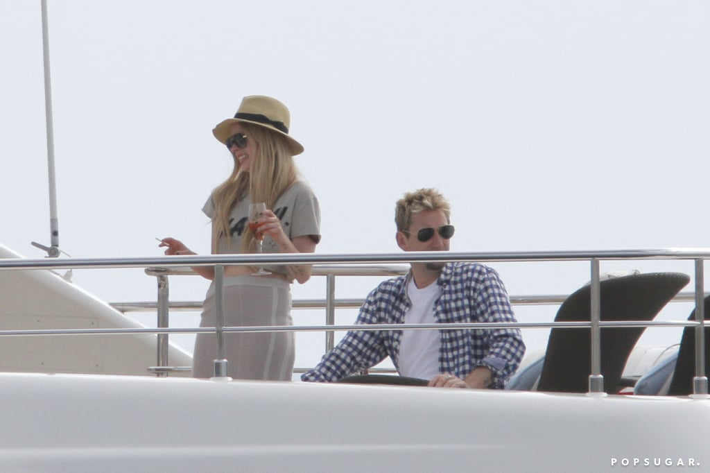 Avril Lavigne and Chad Kroeger lounged on a yacht during their wedding weekend.