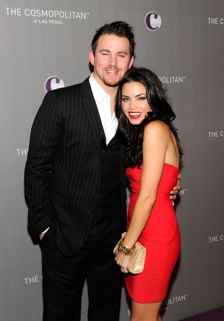 Channing Tatum and Jenna Dewan posed pretty before celebrating New Year's Eve 2011 in Las Vegas.