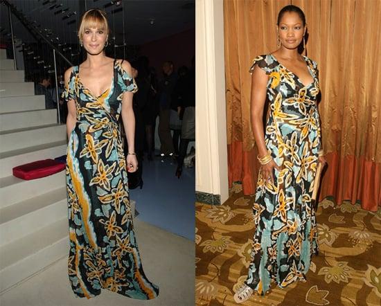 Garcelle Beauvais Nilon and Molly Sims in Diane von Furstenberg Print Maxi Dress