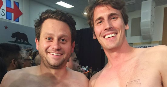 Shirtless Hillary Supporters Elevate Nation's Political Discourse