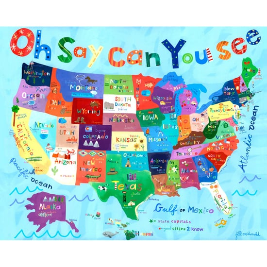 Map-Themed Wall Art For Kids' Rooms