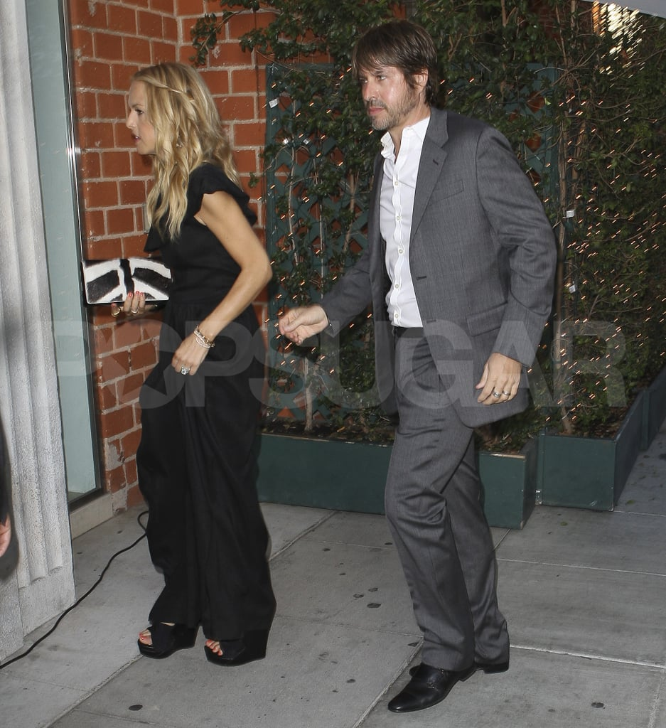 Rachel Zoe and her Rodger Berman having an adults-only night out on the town.