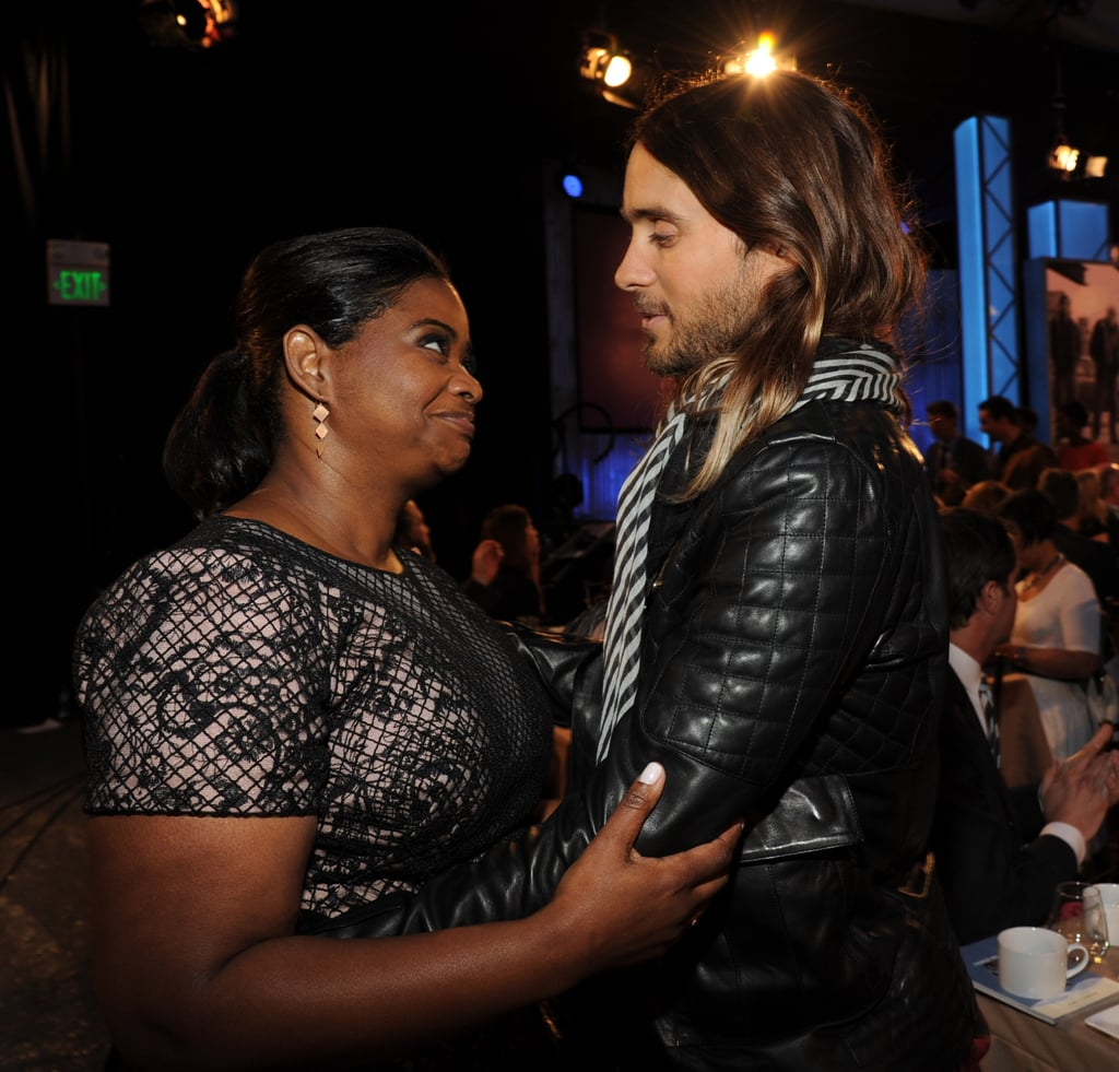 Jared chatted with Octavia Spencer during the Independent Spirit Awards.