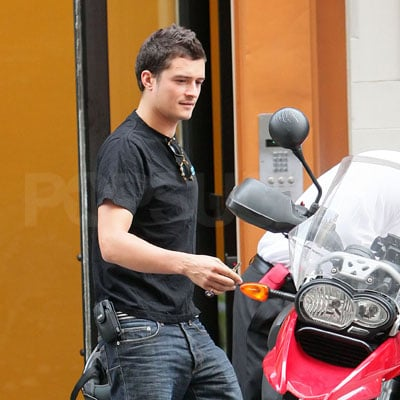 Orlando Bloom On His Motorcycle