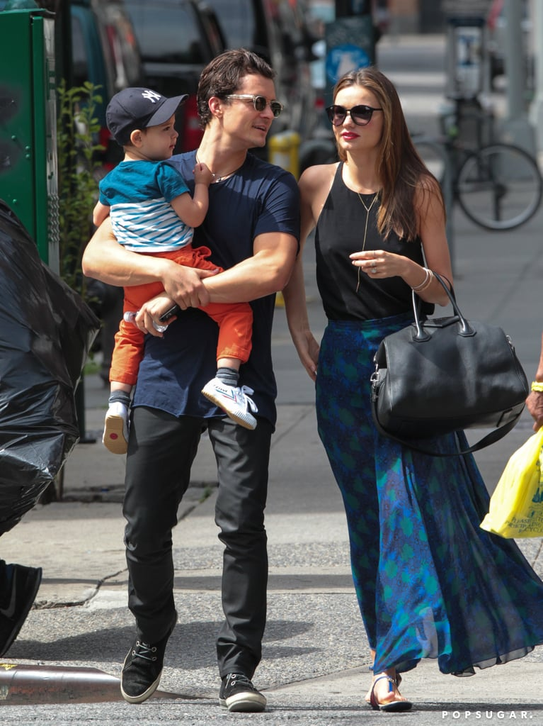 Miranda Kerr and Orlando Bloom spent the day with Flynn.