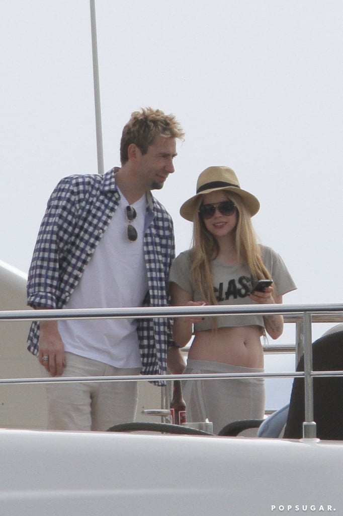Avril Lavigne and Chad Kroeger celebrated in the South of France.