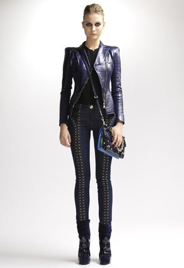 Japanese Cherry Blossoms Meet Patent Leather in Versace Pre-Fall 2010