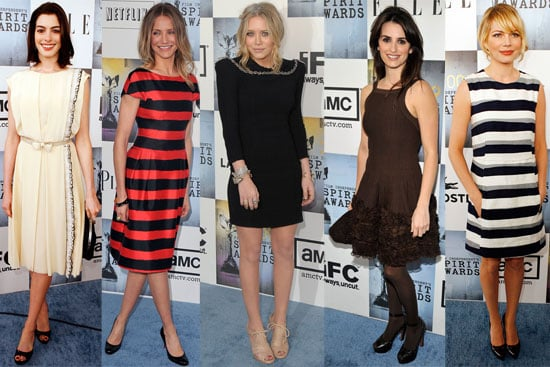 Photos of Anne Hathaway, Cameron Diaz, Penelope Cruz, Mary-Kate Olsen, Michelle Williams at 2009 Independent Spirit Awards