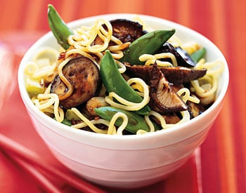 Fast & Easy Dinner: Asian Noodle Salad With Eggplant