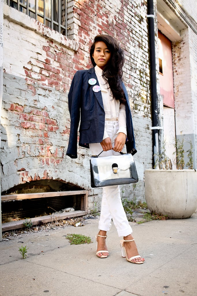 A look that screams office sophistication in a soft, neutral palette. Source: Lookbook.nu