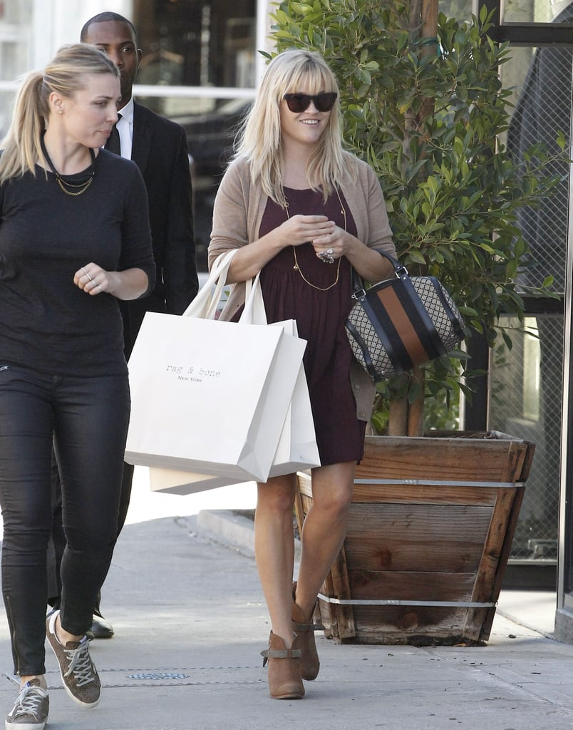 Reese Witherspoon made her way through Beverly Hills with a friend.