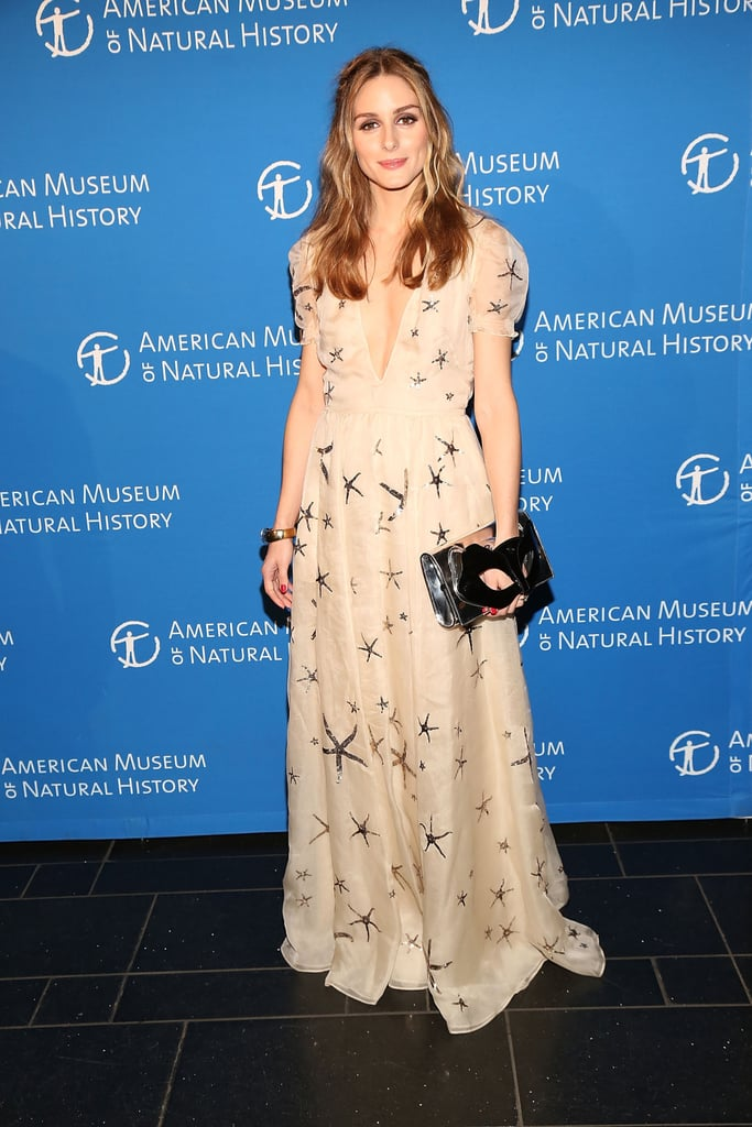 """Olivia slipped into an ethereal Valentino gown at the """"Masquerade Retrograde"""" at the Museum of Natural History in April 2015."""
