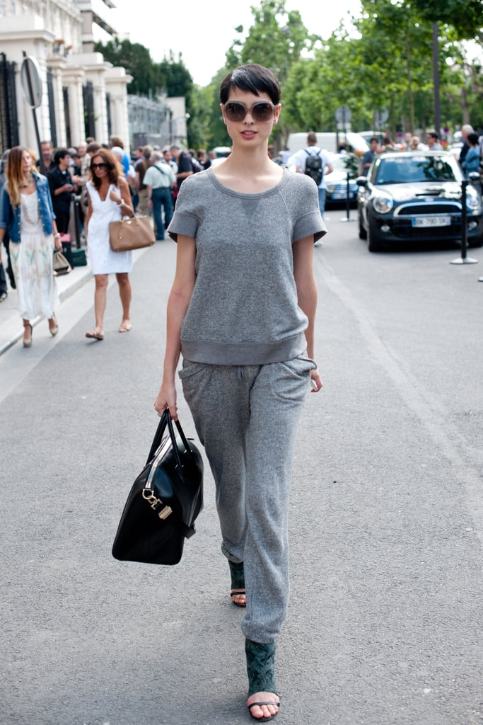 This sweatsuit gets reworked with edgy accents and a perfectly on-point fit.