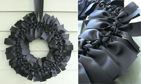 DIY: Halloween Ribbon Wreath