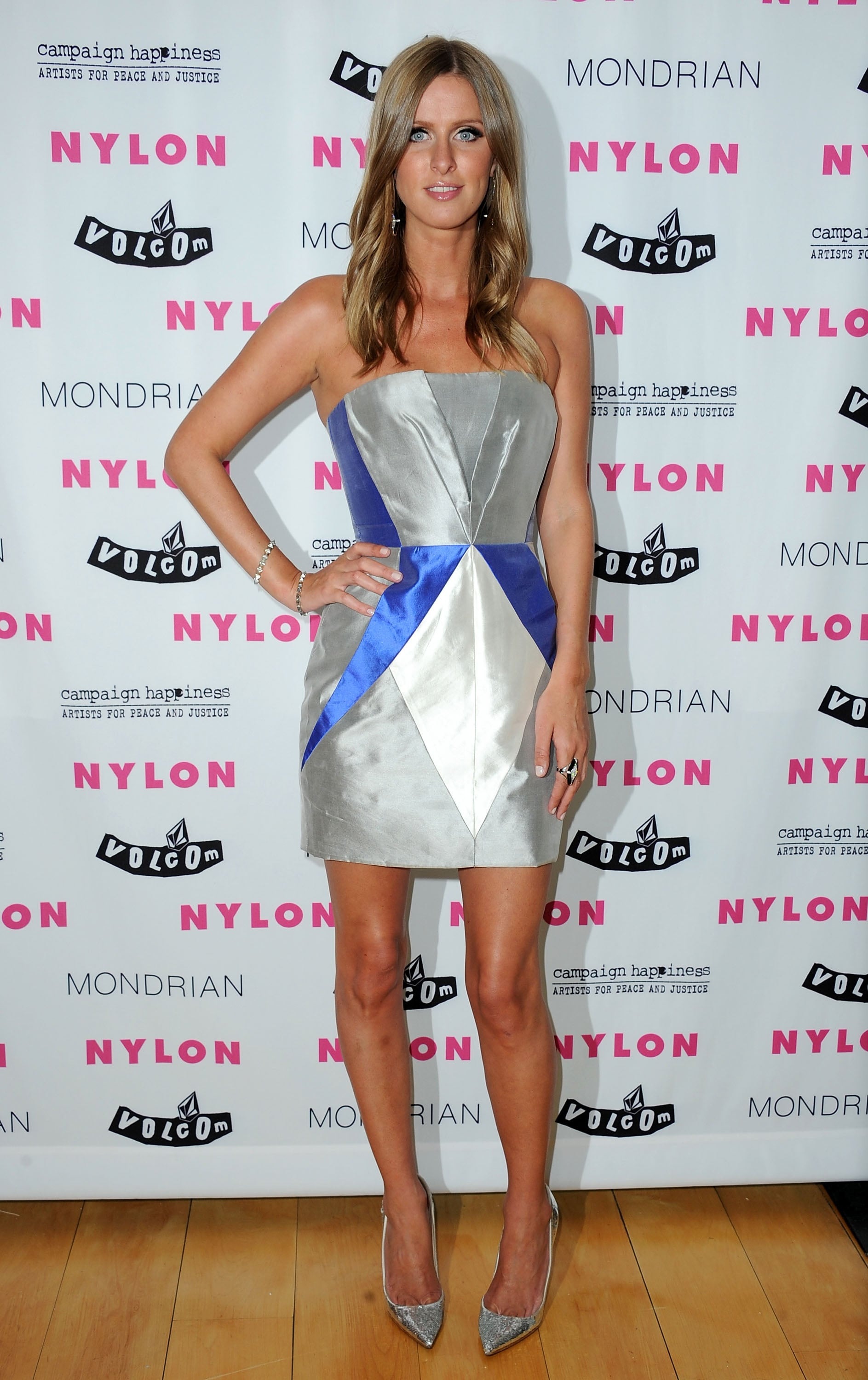Nicky Hilton rocked a strapless look.