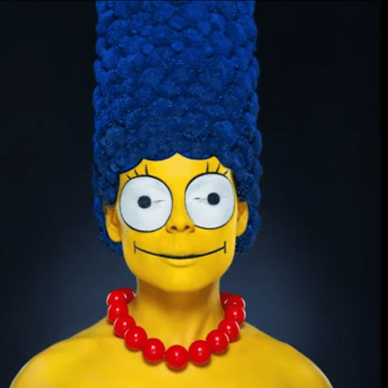 Marge Simpson Makeup Transformation Video