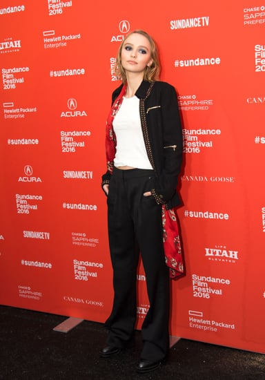 Lily-Rose Depp Wearing a Suit at Sundance 2016