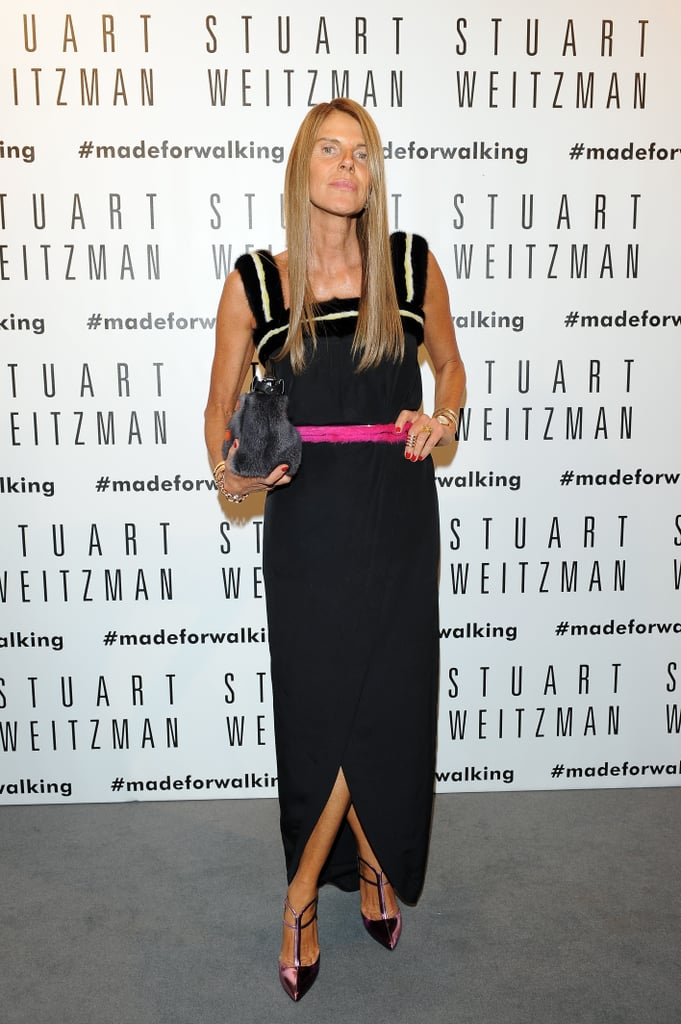 Anna Dello Russo heated up the Stuart Weitzman store opening in Milan with Kate Moss.