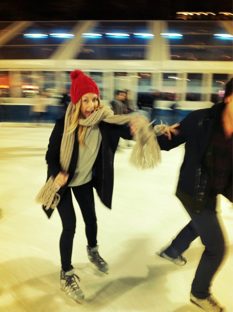 She got a little wild on the ice. Source: Twitter user laurenconrad