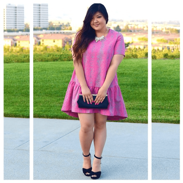 A little frill goes a long way, giving this minidress a decidedly flirty angle. Then all you need is a few jewels and a great clutch to tie it together for a Summer wedding or a cocktail party. Source: Instagram user curvygirlchic