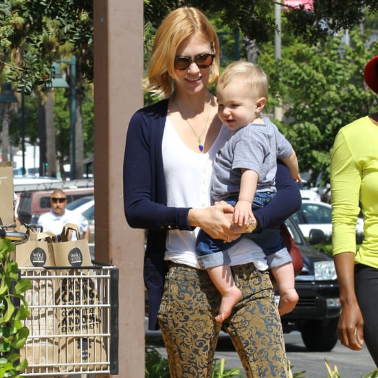 January Jones at Whole Foods With Xander
