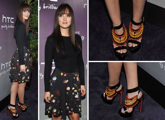 Pictures of Gossip Girl Star Leighton Meester in Marios Shwab and Burberry at Launch of HTC Rhyme Serves Up NYC