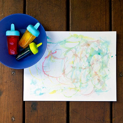 Do Some Edible Popsicle Painting