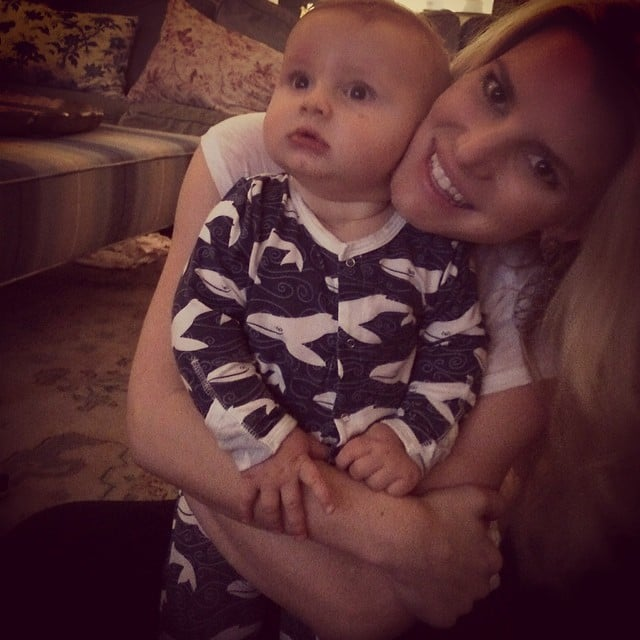 Jessica Simpson got her snuggle on with baby Ace. Source: Instagram user jessicasimpson