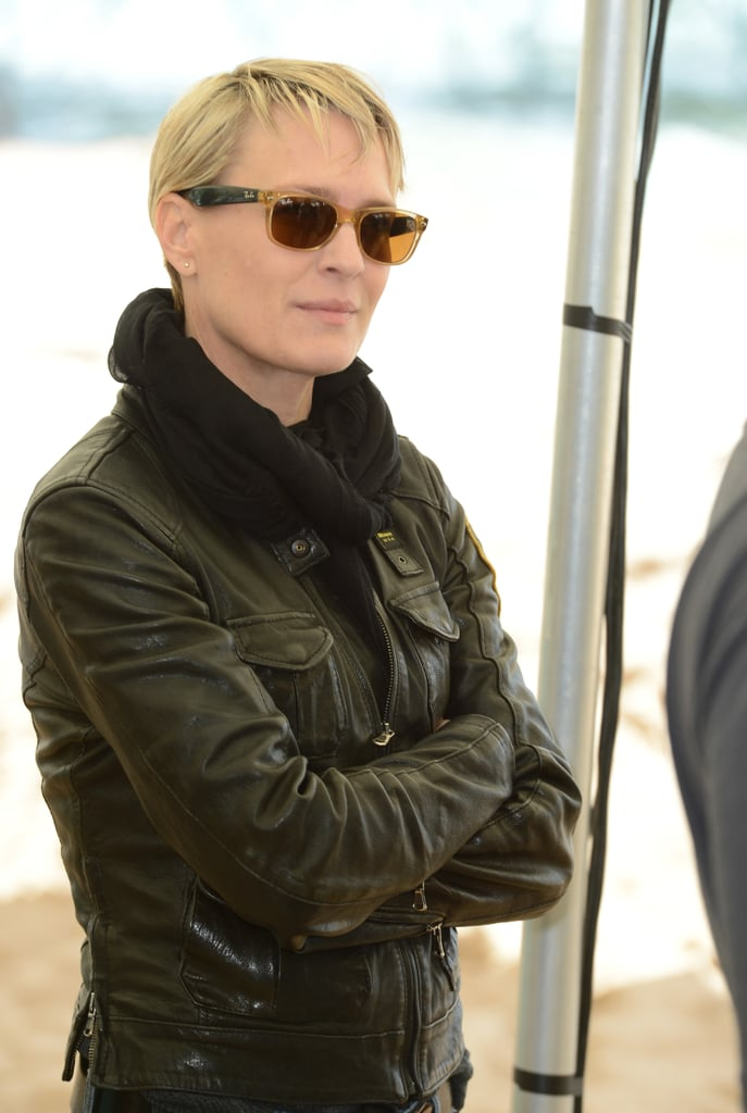 Robin Wright looked cool while visiting The Congress photo call on Friday.