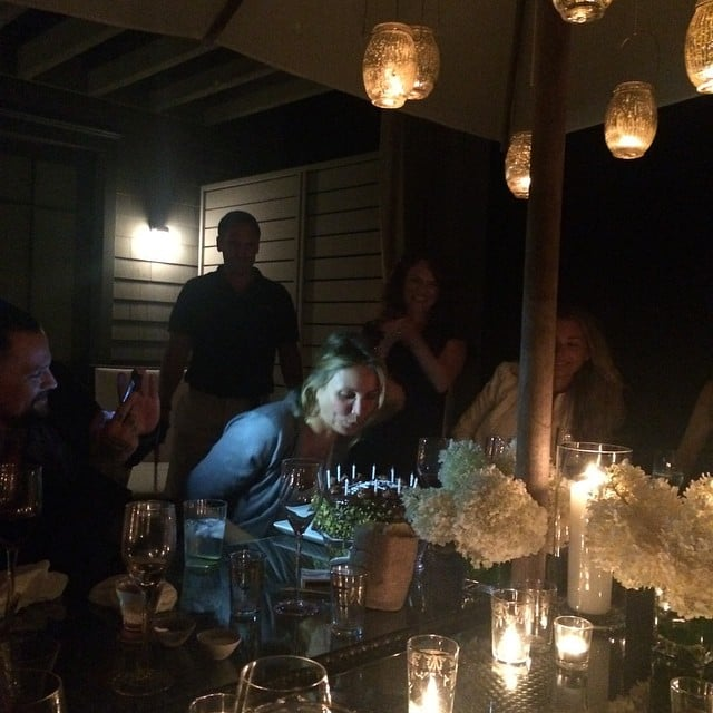 Cameron blew out the candles on her birthday cake.