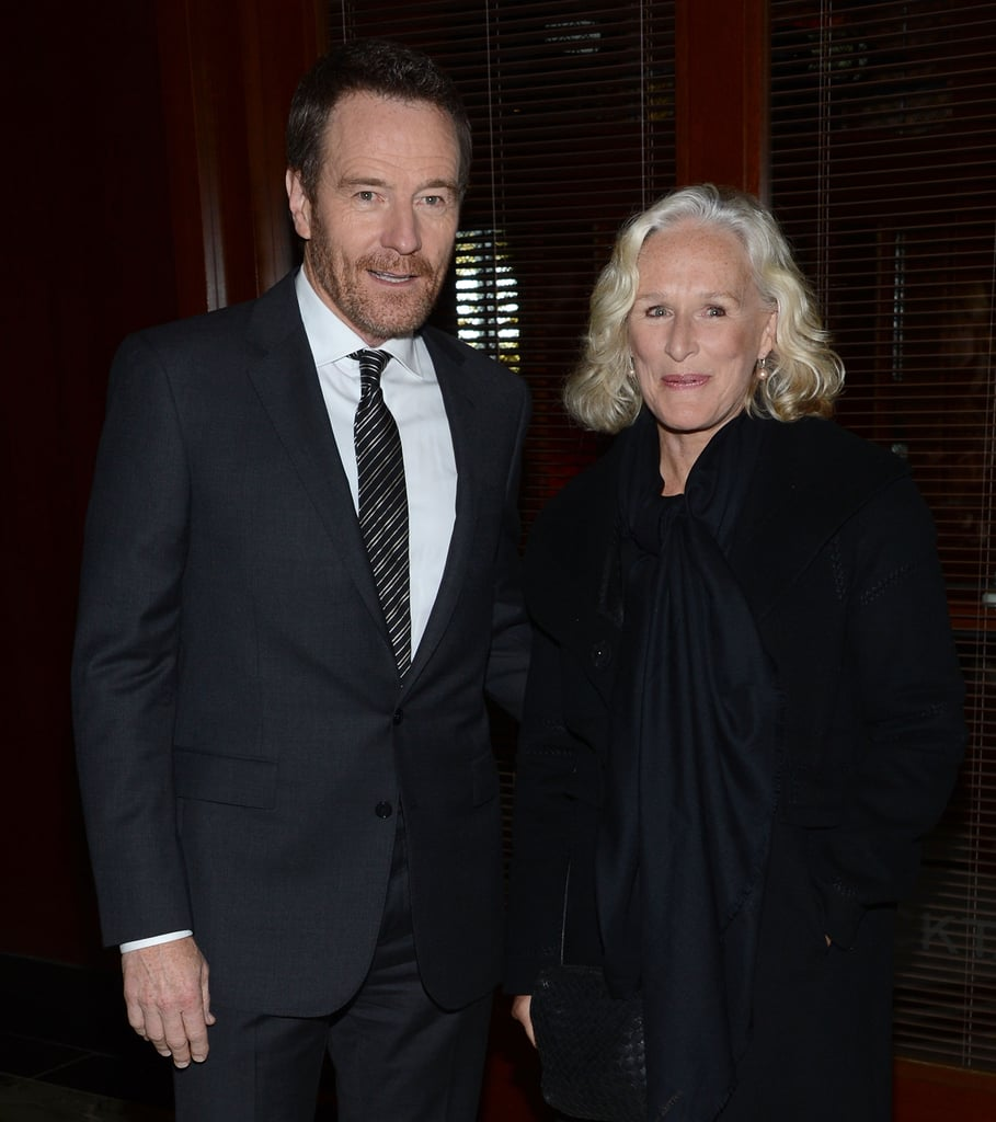 Bryan Cranston and Glenn Close posed for photos at the NYC premiere of Argo.