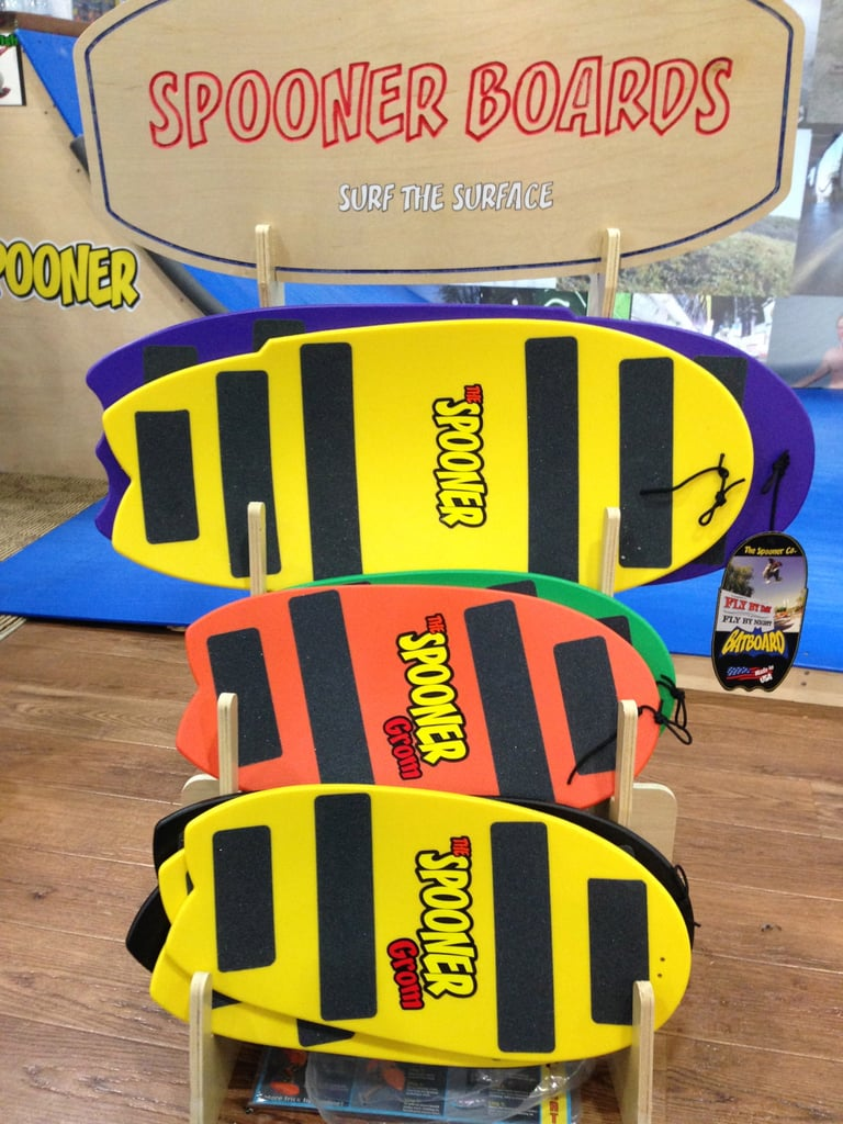Spooner Boards provide the precursors to surf- and snowboards for little ones.